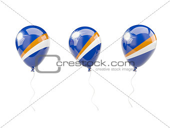 Air balloons with flag of marshall islands
