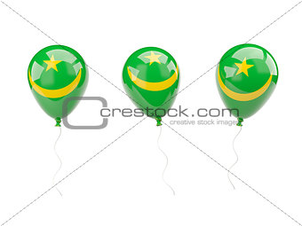 Air balloons with flag of mauritania