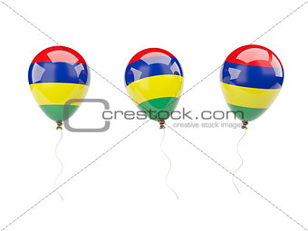 Air balloons with flag of mauritius