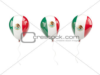 Air balloons with flag of mexico
