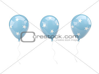 Air balloons with flag of micronesia