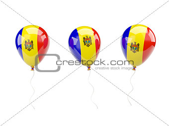 Air balloons with flag of moldova