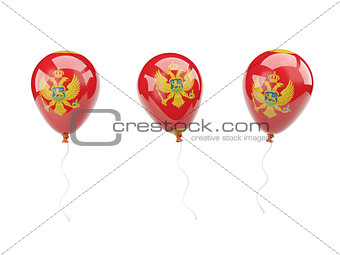 Air balloons with flag of montenegro