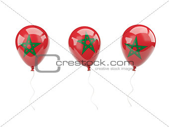 Air balloons with flag of morocco