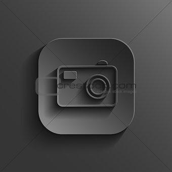 Camera icon - vector black app button with shadow