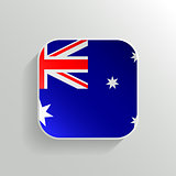 Vector Button - Australia Flag Icon on White Background