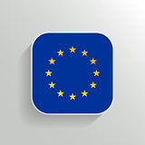 Vector Button - Europe Flag Icon on White Background