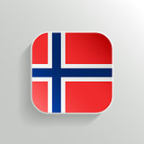 Vector Button - Norway Flag Icon on White Background