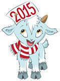 Christmas goat  hold on the horn symbol 2015