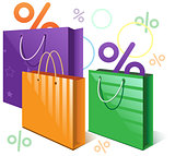 Shopping bags and falling interest