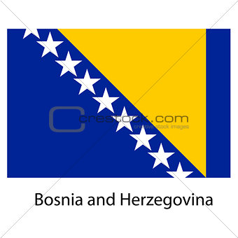Flag  of the country  bosnia and herzegovina. Vector illustratio