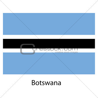 Flag  of the country  botswana. Vector illustration.