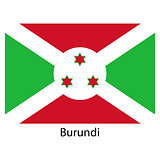 Flag  of the country  burundi. Vector illustration.
