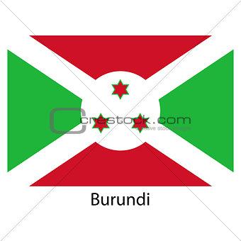 Flag  of the country  burundi. Vector illustration.