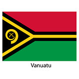 Flag  of the country  vanuatu. Vector illustration.