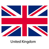 Flag  of the country  united kingdom. Vector illustration.