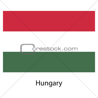 Flag  of the country  hungary. Vector illustration.