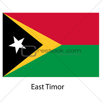Flag  of the country  east timor. Vector illustration.