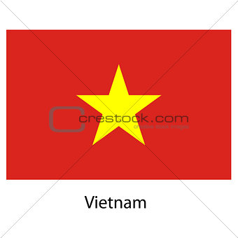 Flag  of the country  vietnam. Vector illustration.
