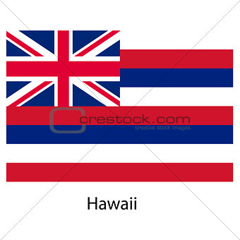 Flag  of the country  hawaii. Vector illustration.