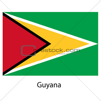 Flag  of the country  guyana. Vector illustration.