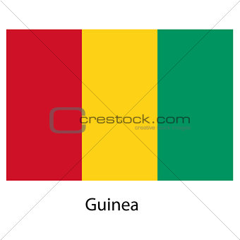 Flag  of the country  guinea. Vector illustration.
