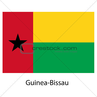 Flag  of the country  guinea bissau. Vector illustration.