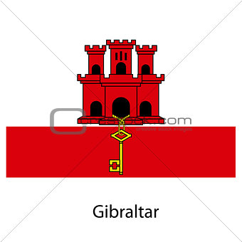 Flag  of the country  gibraltar. Vector illustration.