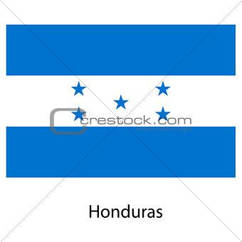 Flag  of the country  honduras. Vector illustration.