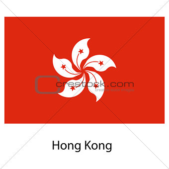 Flag  of the country hong kong. Vector illustration.