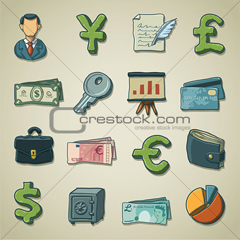 Freehand icons - Banking