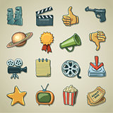 Freehand icons - Cinema