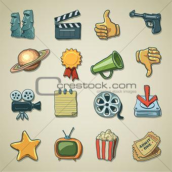 Freehand icons - Cinema