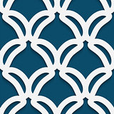 White shape on textured blue background