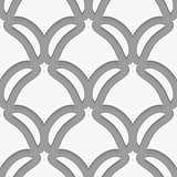 White shield shapes on gray pattern