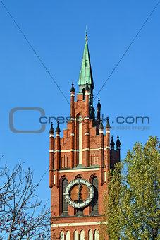 Church of the Holy family. Kaliningrad (until 1946 Koenigsberg),