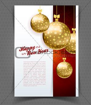 Christmas balls template background