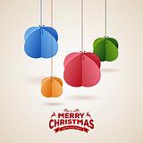 Stylized christmas balls background