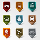 Colorful set web pointers for transport