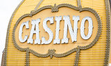 Antique Casino Sign on Building