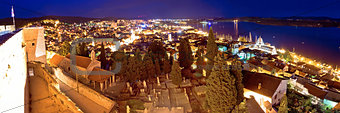Town of Sibenik evening panorama