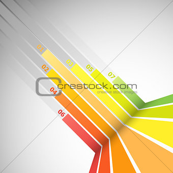 Abstract design banner with colorful lines