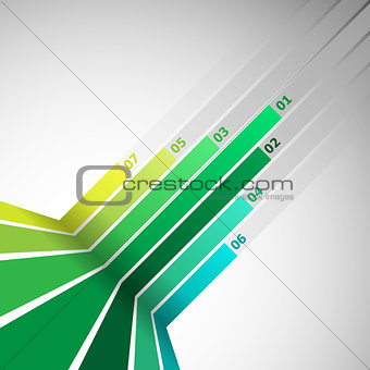 Abstract design element with green lines