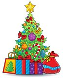 Christmas tree theme 6