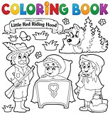 Coloring book fairy tale theme 1