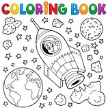 Coloring book space theme 1