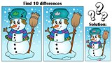 Find differences theme with snowman