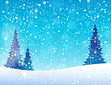 Snow theme background 5