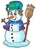 Winter snowman theme image 6