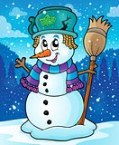Winter snowman theme image 7